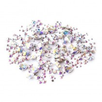 Swarovski Crystals for Nails Crystal AB Stone Mix x 300
