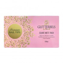 Glitterbels Square Matte Finish Assorted Nail Tips X 500