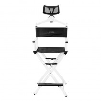 Lotus Make Up Chair With Head Rest White - The PRO Collection