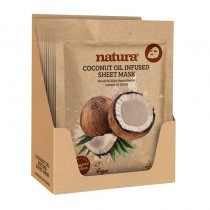 BeautyPro Natura Coconut Oil Infused Sheet Mask Display Box of 12