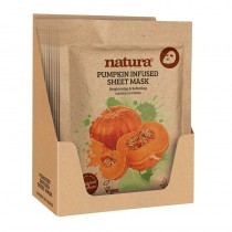 BeautyPro Natura Pumpkin Infused Sheet Mask Display Box of 12