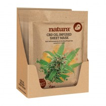 BeautyPro Natura CBD Oil Infused Sheet Mask Display Box of 12