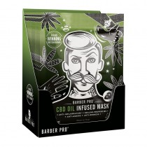 BARBER PRO CBD Oil Infused Mask Display Box of 12