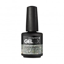 Gellux Holographic No Wipe Top Coat 15ml Gel Polish