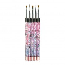 Glitterbels Gel Art Brush Set x 5 Brushes