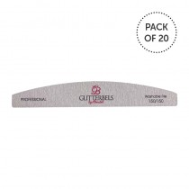 Glitterbels Nail File 150 Grit Pack Of 20