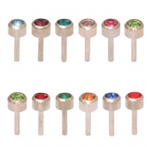 Caflon Assorted Birthstone Packs White Stainless Steel Regular x 12