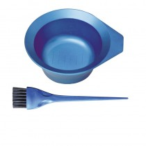 Metallix Tint Bowl + Brush Blue