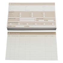 Agenda Record Cards Tinting Beige x100