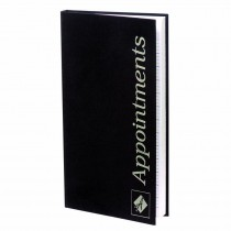 Agenda Appointment Book 3 Column Black