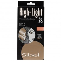 Sibel High-Light Foam Gold Small 9.5 x 20cm 200 Sheets