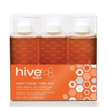 Hive Roller Depilatory Refills Warm Honey Wax (6 x 80g)