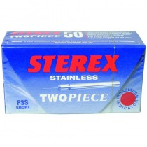 Sterex Stainless Steel Two Piece Needles F3S Short - Box of 50