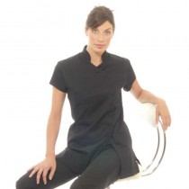 Black Mandarin Tunic Size 14 by Deo