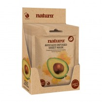 BeautyPro Natura AVOCADO INFUSED Sheet Mask Box Of 12