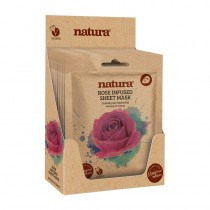 BeautyPro Natura ROSE INFUSED Sheet Mask Box Of 12