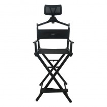 Lotus Make Up Chair With Head Rest Black - The PRO Collection