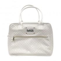 Lotus White PU Make Up Bag
