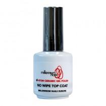 Atom Ceramic Gel Polish No Wipe Top Coat 15ml by Millennium Nails