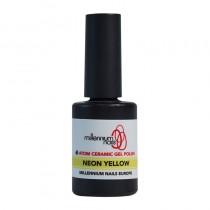 Atom Ceramic Gel Polish Neon Yellow 15ml by Millennium Nails
