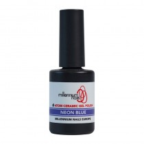 Atom Ceramic Gel Polish Neon Blue 15ml by Millennium Nails