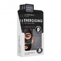Skin Republic Mens Energising Face Mask Sheet 23ml Pack Of 10