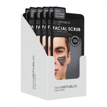 Skin Republic Men's Charcoal Facial Scrub 25ml Pack of 10