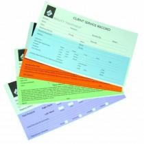 Agenda Record Cards Sunbed x 100