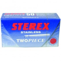 Sterex Stainless Steel Two Piece Needles F5S Short - Box of 50