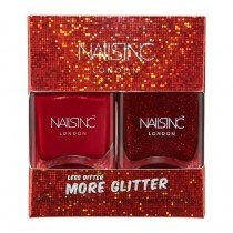 Nails Inc Less Bitter More Glitter Duo Kit 2 x 14ml