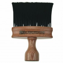 Pro-Tip Neck Brush Dark Wood Oval Handle Black Bristles