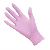 Pro Nitrile Gloves Non-Latex Pink Medium x 50 pairs