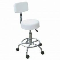 Compact Beauty Stool with Backrest