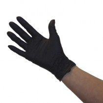 Pro Nitrile Non-Latex Gloves Black x 50 pairs