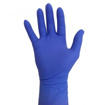 Pro Nitrile Gloves Long Cuff Violet Small x 25 pairs
