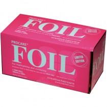 Procare Pink Foil Roll 10cm x 100m
