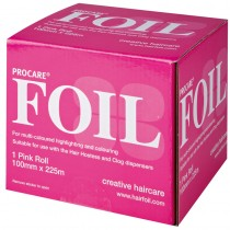 Procare Coloured Foil Pink 100mm x 225m