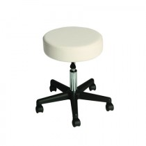 Affinity Rolling Stool - White
