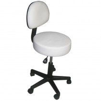 Affinity Stool With Backrest - White