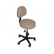 Affinity Stool With Backrest - Biscuit