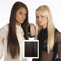 Universal 18in Natural Black/Very Dark Brown/Chocolate Brown Mix P1B/2/4 Clip in Extensions105g
