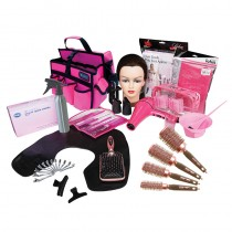Salons Direct Complete Hairdressing Student Kit Pink