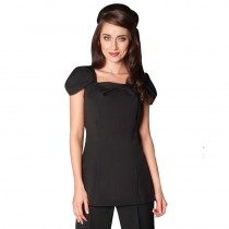 Sanza Tunic Black Size 10 by Florence Roby