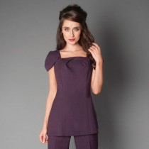Sanza Tunic Plum Size 16 by Florence Roby