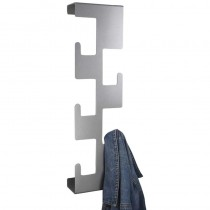 Vertical Coat Rack Metallic Silver