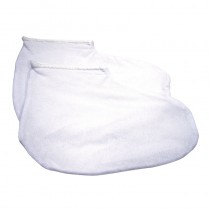 Deo 100% Cotton Pedicure Booties White 1 Pair