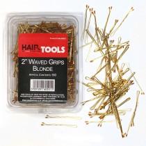 "Hair Tools 2"" Triple Wave Grips Blonde (Box of 500)"