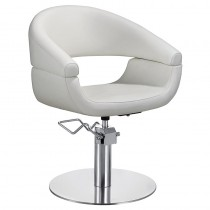Lotus Chicago Ivory Styling Chair with Round Base