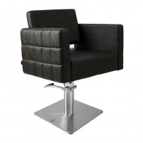 Lotus Washington Styling Chair Black with Square Base