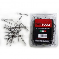 "Hair Tools 2"" Wave Pins Brown  x 1000"